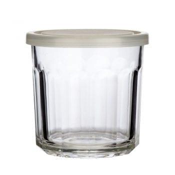צנצנת זכוכית שקופה ואטומה