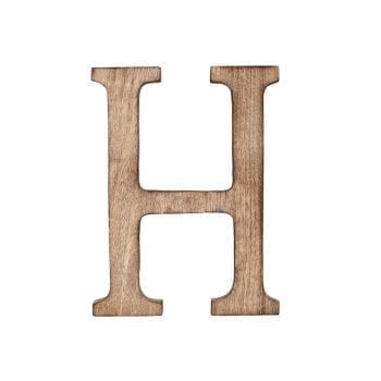 Wooden letter, H, mango wood