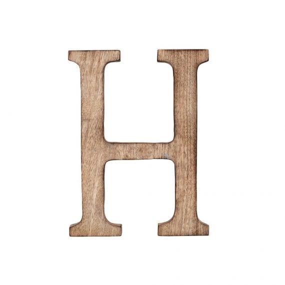אות H מעץ מנגו