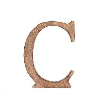 האות C מעץ מנגו
