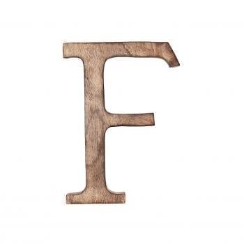 האות F מעץ מנגו