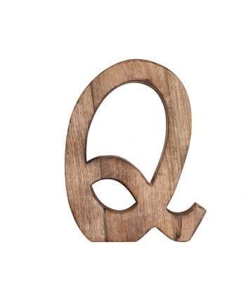 האות Q מעץ מנגו