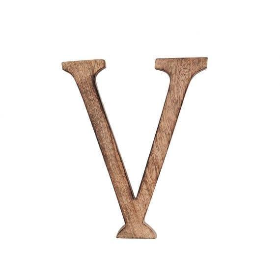 האות V מעץ מנגו