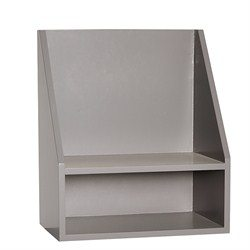 Shelf w/1 comp grey
