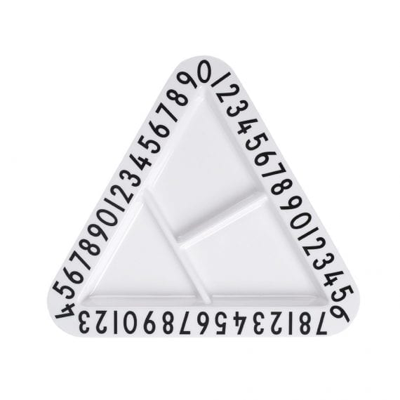 Melamine triangular snackplate