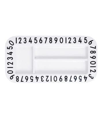 Melamine rectangular snackplate