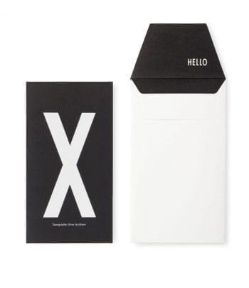 כרטיס ברכה X
