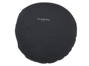 כרית עגולה כותנה אפור כהה