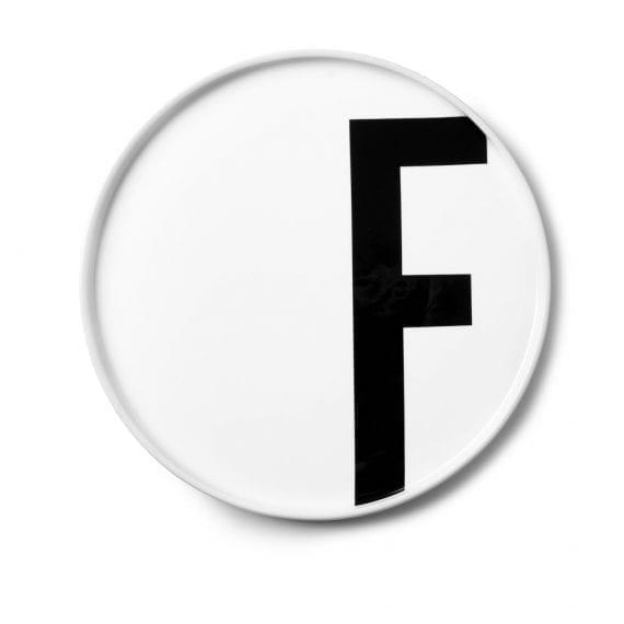 צלחת פורצלן F