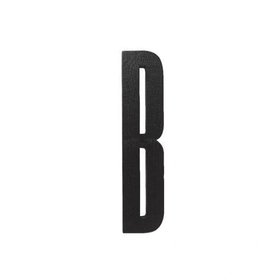 אות B מעץ שחור