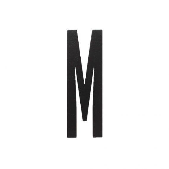 אות M מעץ שחור