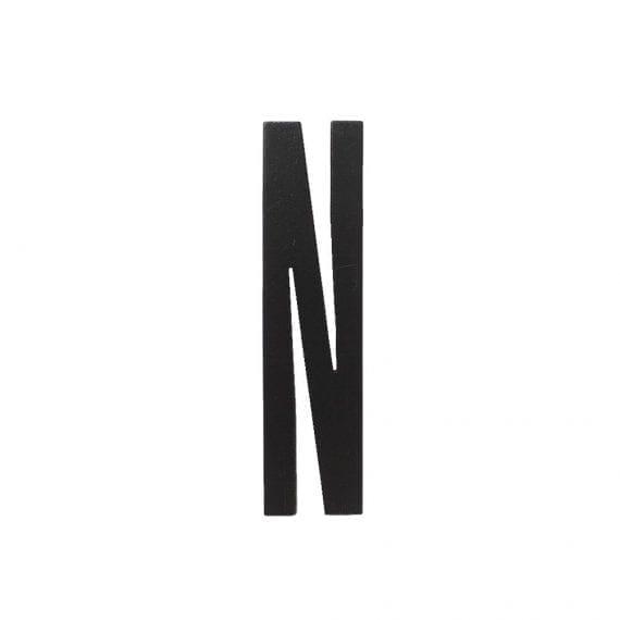 אות N מעץ שחור