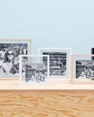 מסגרות מרובעות מרחפות – עץ, לבן שחור