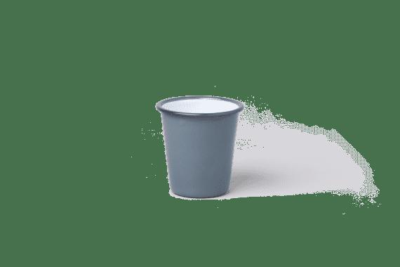 תמה שופ - כלי אוכל - כוס אמאייל אפורה