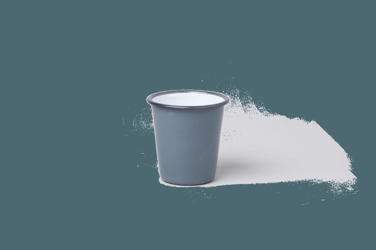 כוס אמאייל אפורה