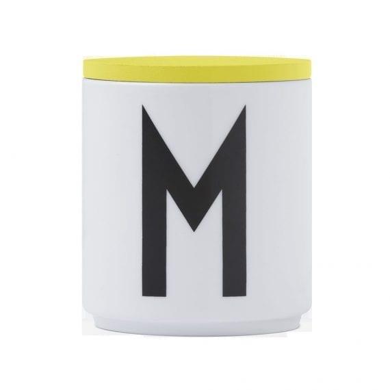 מכסה עץ צהוב לכוס פורצלן