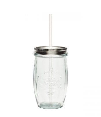 כוס שתיה זכוכית ממוחזרת שקופה