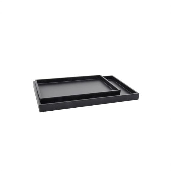 LOW TRAY RECT black 570x570 - מגש מלבני נמוך שחור