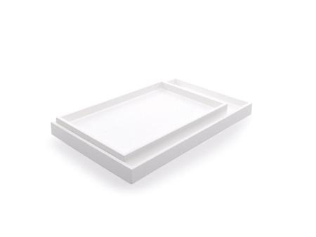 XLBA0900 01 1 - מגש מלבני נמוך לבן