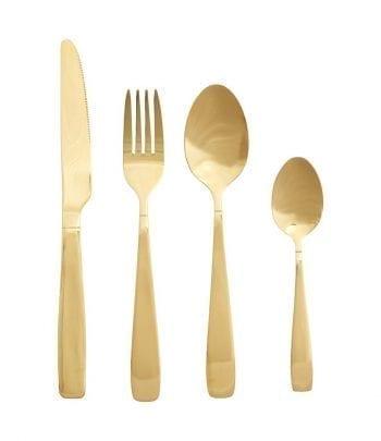 כלי אוכל מעוצבים - סכום זהב