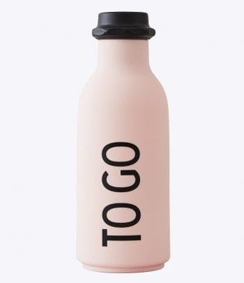 TEMA כלים עמוצבים - בקבוק שתייה ורוד