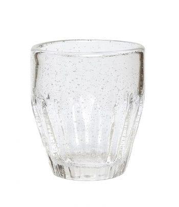 כוס זכוכית מחורצת