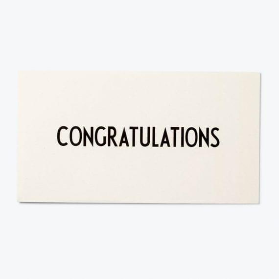 כרטיס ברכה Congratulations