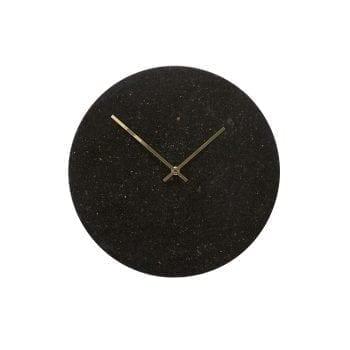 שעון שיש שחור וזהב