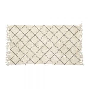 שטיח כותנה אפור לבן 120\180