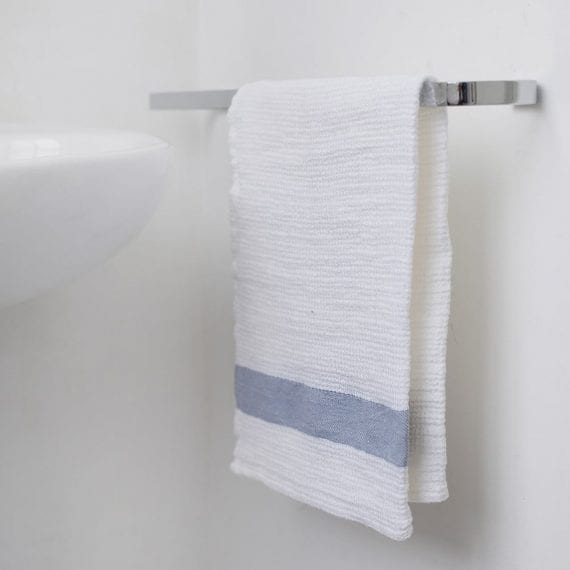 טקסטיל לחדר הרחצה - מגבת ידיים פיקה - לבן אפור