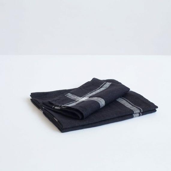 מגבת מטבח פשתן שחורה