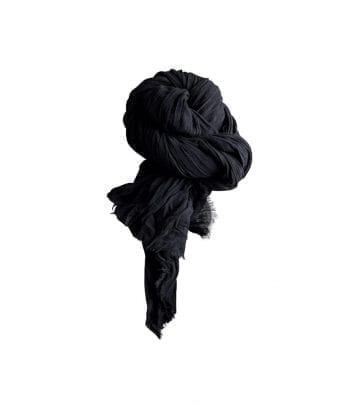 צעיף כותנה שחור