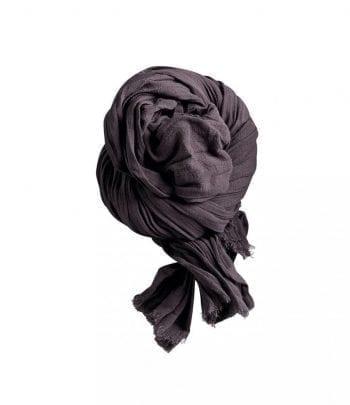 תמה שופ אקססוריז - צעיפים - צעיף כותנה אפור כהה