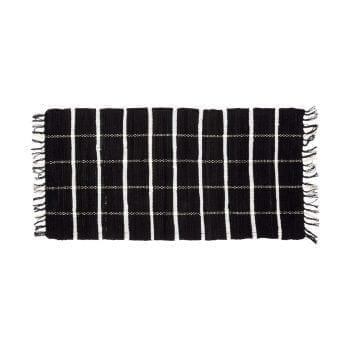 שטיח כותנה שחור לבן 60\120