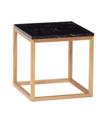 שולחן קטן מסגרת עץ  ושיש שחור