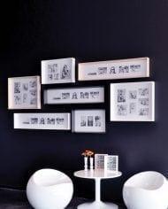 מסגרות מעוצבות לקיר – שחור לבן