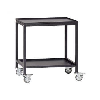 שולחן על גלגלים שחור