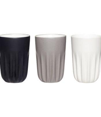 כלי אוכל מיוחדים - סט 3 כוסות פורצלן