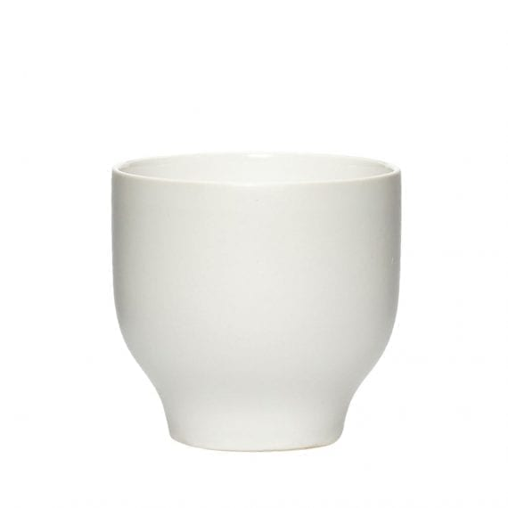 כוס פורצלן לבנה קטנה