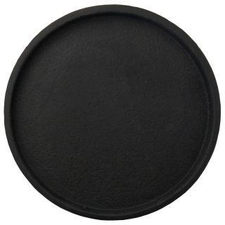מגש בטון שחור עגול