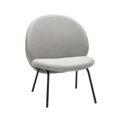 כסא מרופד אפור