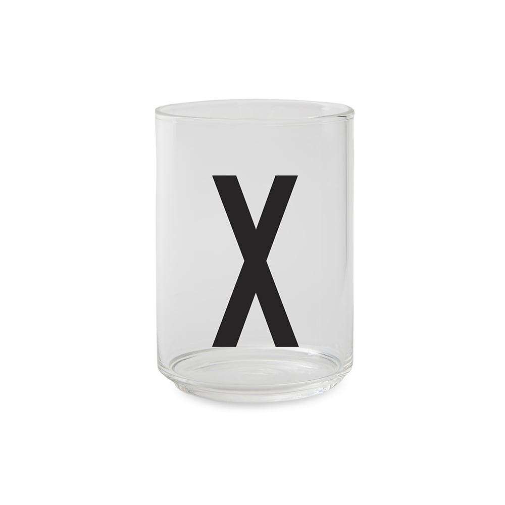 כוס זכוכית X
