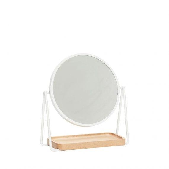 מראת שולחן עגולה עם מראה