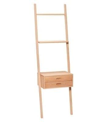 רהיטי עץ מעוצבים - סולם משולב עם מגירה