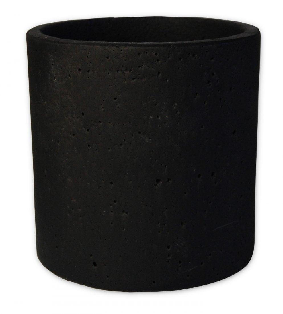 עציץ בטון שחור