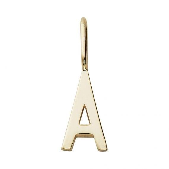 תמה שופ תכשיטים - תליון זהב לשרשרת אות A