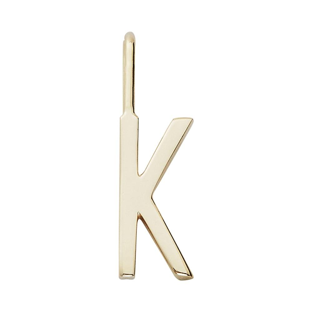 """תליון אות זהב K 16 מ""""מ"""