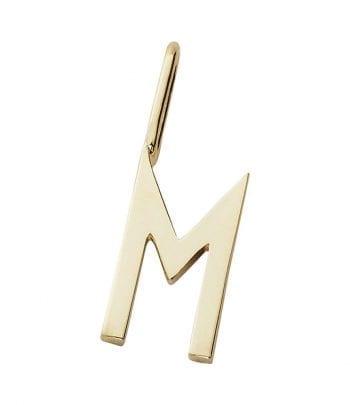 """תליון אות זהב M 16 מ""""מ"""