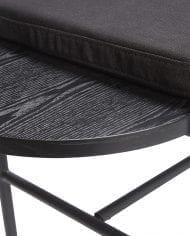 ספסל מעוצב מעץ שחור