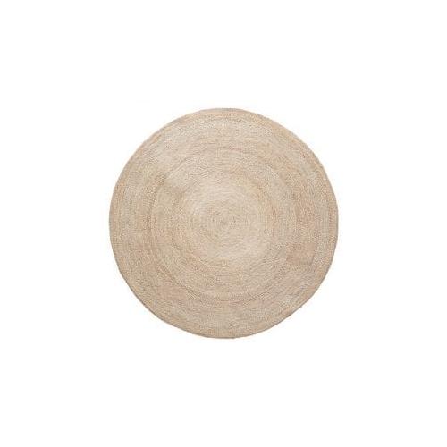 שטיח יוטה עגול טבעי